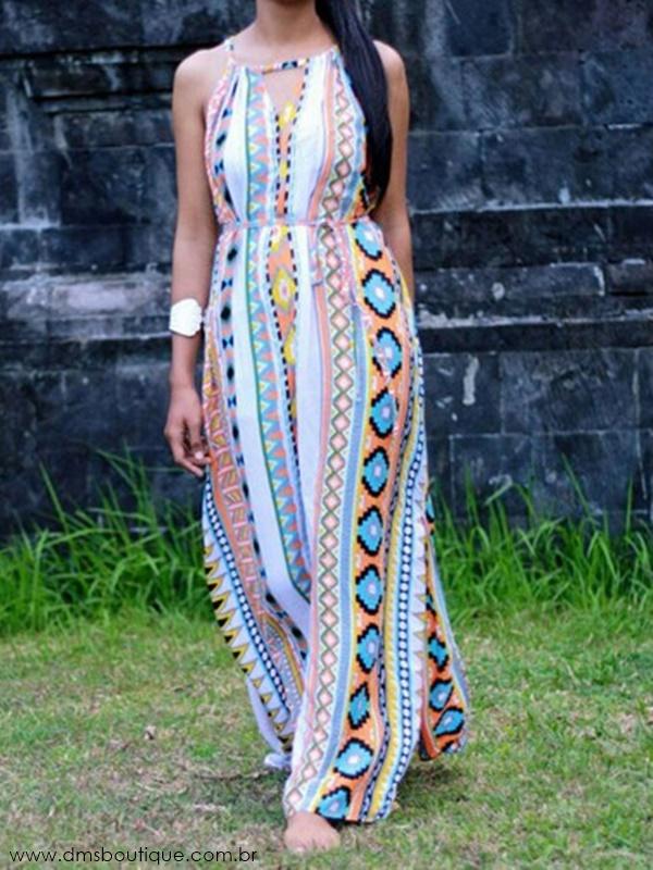vestido longo estampado 1